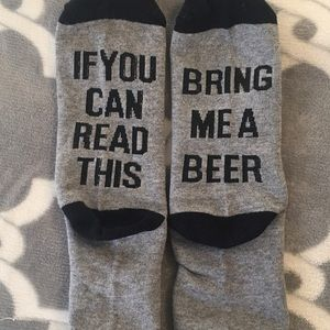 Socks IF YOU CAN READ THIS BRING ME A BEER funny